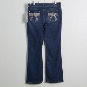 NEW Seven7 Boot Cut Embellished Jeans